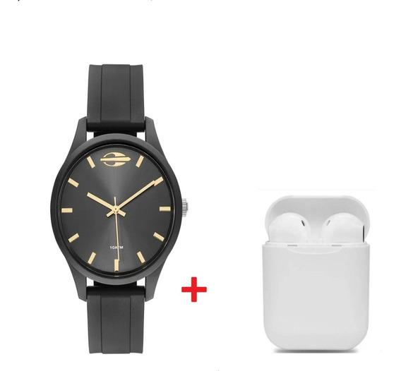 Relógio Mormaii Masculino Analógico Preto Com Brinde