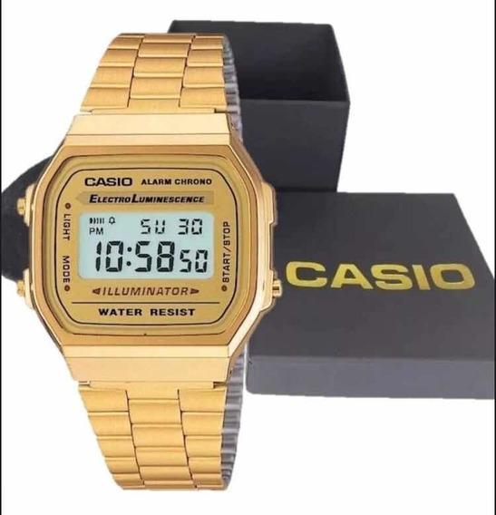 Relógio Casio Original Dourado