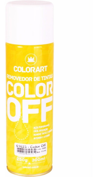 Removedor De Tinta Color Off Spray Remove Tinta E Verniz Tpk