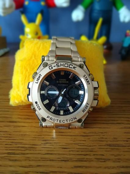 Relógio Masculino G-shock Multi Band 6 Dourado E Preto