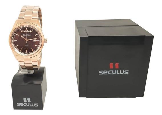 Relógio Rosê Feminino Seculus 35002lpsvrs1 Nota Fiscal