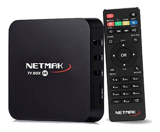 Netmak Nm-tvbox1 Tv Box 4k 8gb Android 7.1 Memo 8gb 1gb Ram
