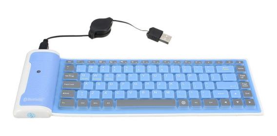 Teclado Bluetooth Sem Fio À Prova D