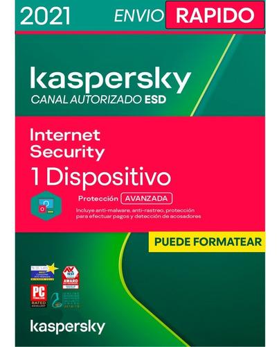 Licencia Kaspersky Internet Security 1 Pc 2 Años