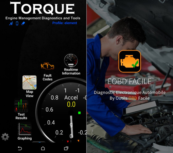 Torque Pro + Eobd Facile Apps Android Scanner Elm327 Digital
