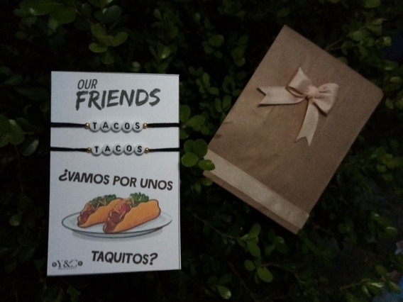 Pulseras Tacos, Vamos Por Tacos, Para Pareja, Amigos Dúo