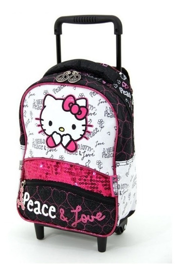 Mochila Colegial Con Carro Hello Kitty 792 30 Cm Children