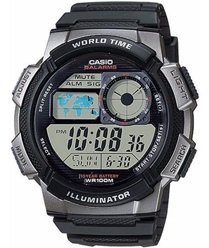 Relógio Masculino Esportivo Casio Ae-1000w-1bvdf Prova Água
