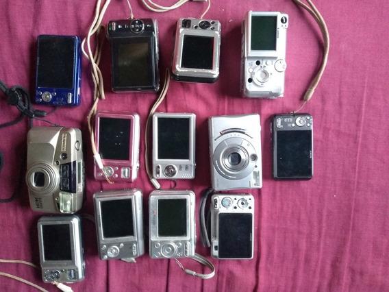 Lote De 13 Câmeras Fotográficas Para Retirar Peças .