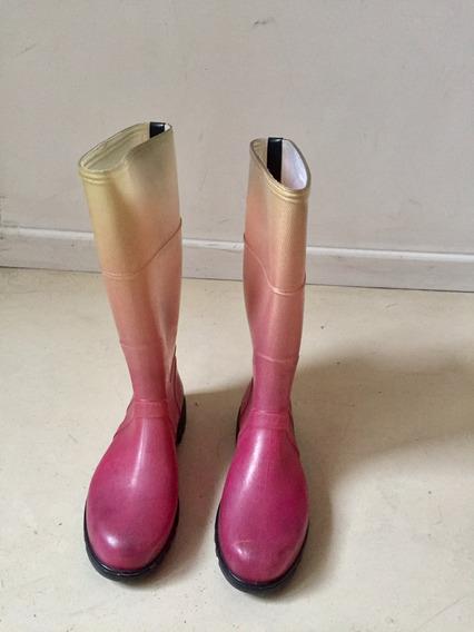 Botas De Lluvia Mujer - Marca Seco - Impecables!!