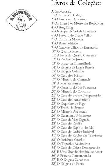 5 Livros (cópia) Da Coleção A Inspetora Santos De Oliveira