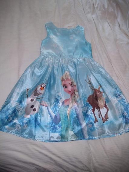 Vestido De Niña Y Zapatillas Disney Frozen