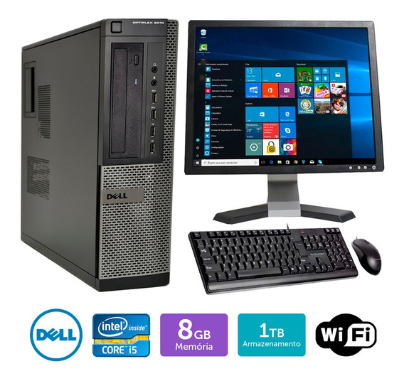 Cpu Barato Dell Optiplex 9010int I5 8gb 1tb Mon19q Brinde