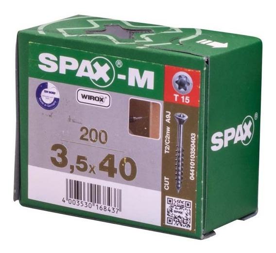 Spax M Para Mdf 3.5x40mm T15 (200 Pzas)