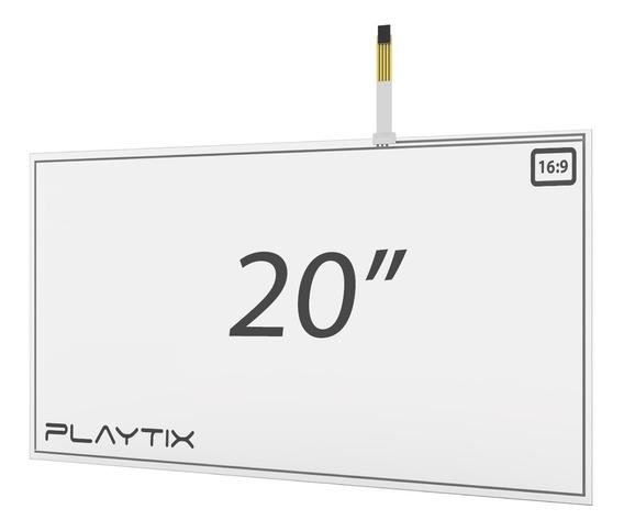 Kit Sistema Touch Screen Resistivo 20 Usb 4 Vias Playtix