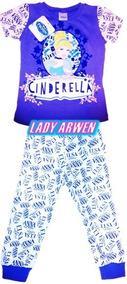 Pijama Cenicienta Frozen 2 Piezas Niña Original Algodon