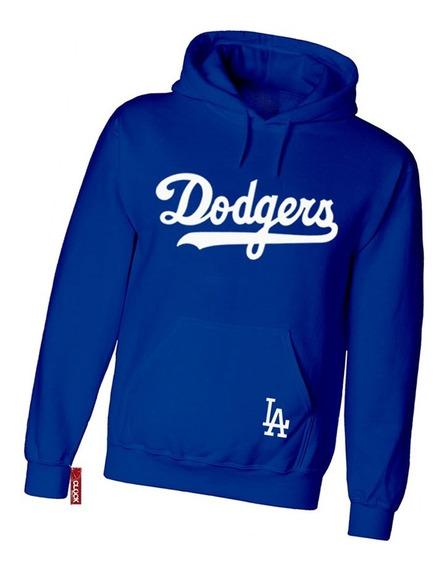 Sudadera Dodgers Los Angeles Beisbol Con Gorro Unisex Moda