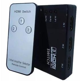 Chaveador Seletor Hub Switch Hdmi Full Hd 1080p 3x1 Controle