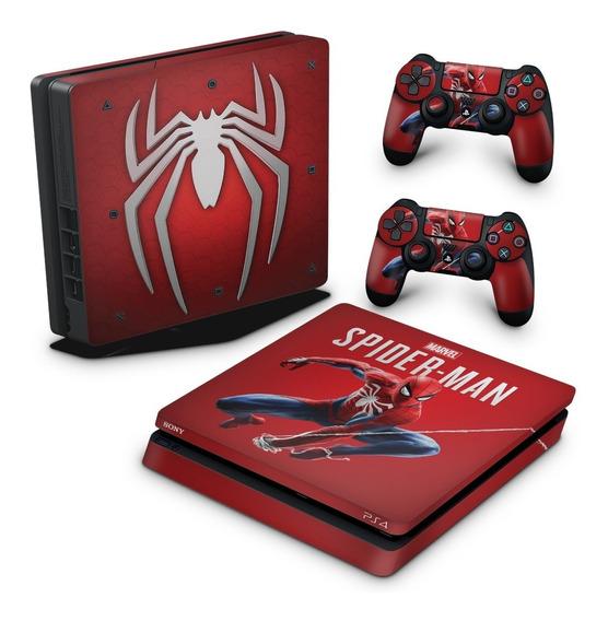 Skin Ps4 Slim Adesivo Playstation 4 Homem Aranha Spider-man