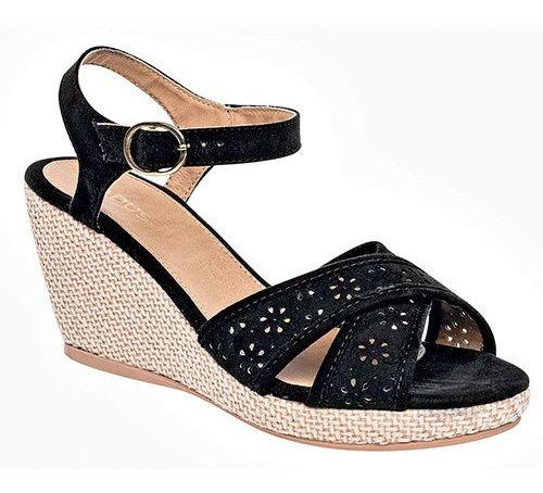 Sandalia Formal Padus Dama Negro Ankle 7cm 91796ipd