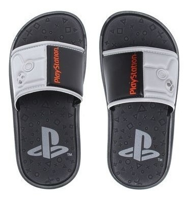Chinelo Sandália Infantil Menino Playstation Connect Gáspea
