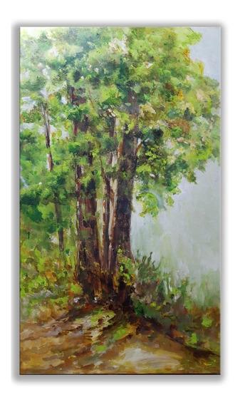 Quadro Pintura Em Tela Árvore Yggdrasill Original E Único