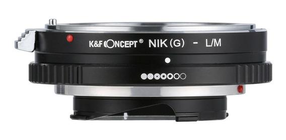 Adaptador Nikon F, Ai, G, P/ Leica M C/ Controle De Abertura