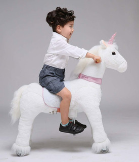 Ufree Horse Action Pony, Ride On Toy, Mecánica, Caballo En M