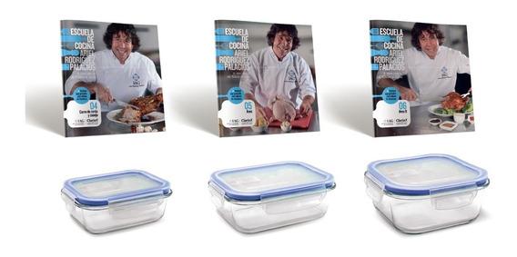 Clarín Colección De Cocina Set 2 De 3 Recipientes Herméticos