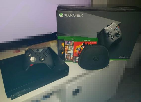 Xbox One X 1tb + 3 Games + Controle Elite