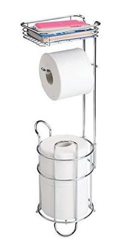 Dispensador De Papel Higienico Mdesign Y Reserva Con Estante