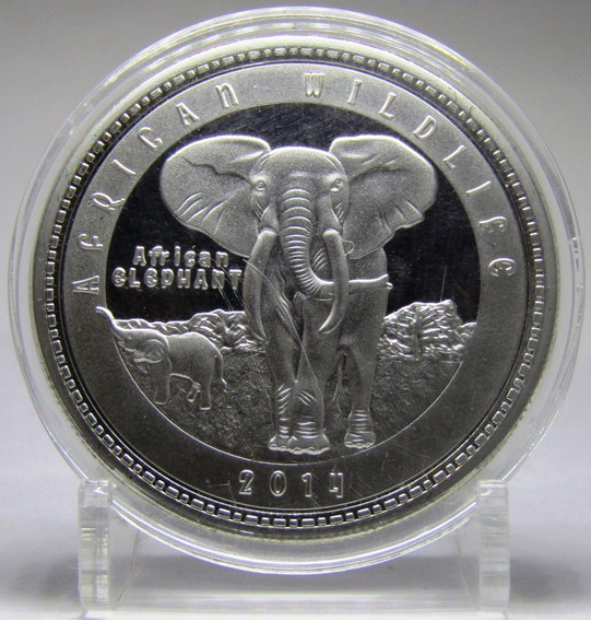 Zambia Moneda 1000 Kwacha Niquel 2014 Elefante Unc