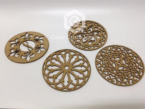 Mandala Souvenir Laser De Fibrofacil Somos Fabricantes 15cm