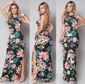 05995f410c Vestido Florido Aberto Nas Pernas - Calçados