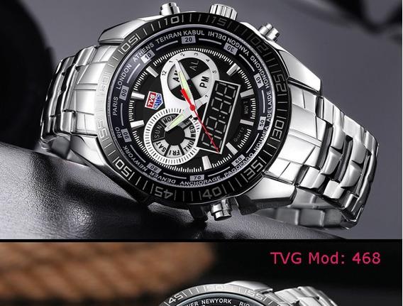 Relógio De Luxo Masculino Tvg Prova Dágua Promoção
