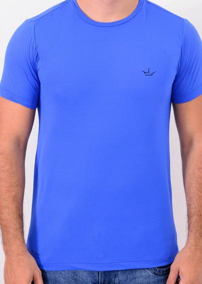 Camiseta Dri Fit 100% Poliamida Azul