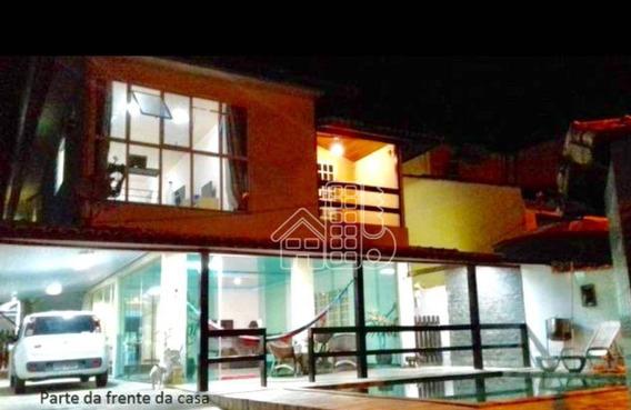 Casa Com 4 Dormitórios À Venda, 500 M² Por R$ 840.000,00 - Vila Progresso - Niterói/rj - Ca1102