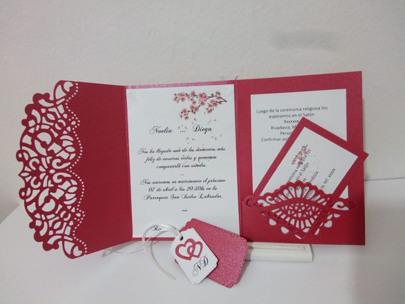 Tarjetas De Invitación Para 15, Casamientos, Aniversarios.