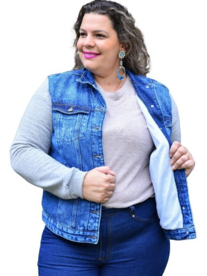Jaqueta Jeans Feminina Plus Size Parka Roupas Femininas