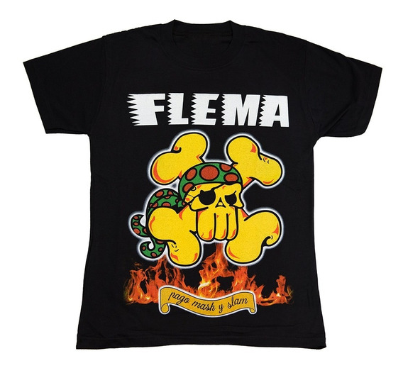 Flema Remera Algodon - Pogo Mosh Slam - Envios Walk On Hell