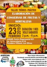 Elaboracion De Conservas De Frutas Y Hortalizas