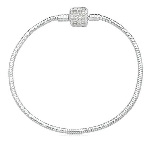 Pulseira Prata Para Berloque 20cm Lr13065