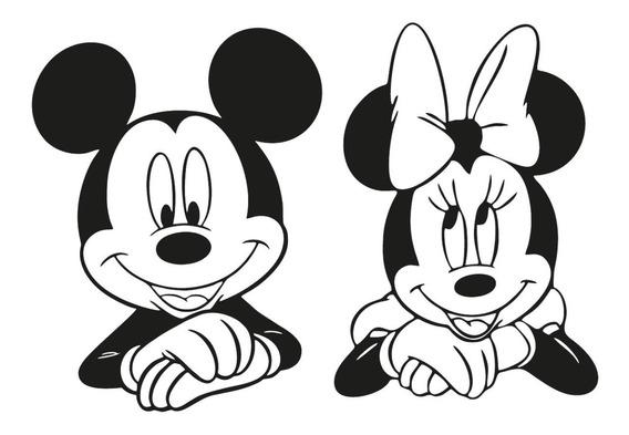 Adesivo Parede Minnie Mickey Mouse Cabeceira Disney Desenho