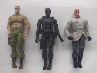 Lote De 3 Figuras G.i. Joe. Duke, Snake Eyes, Dr. Mindbende