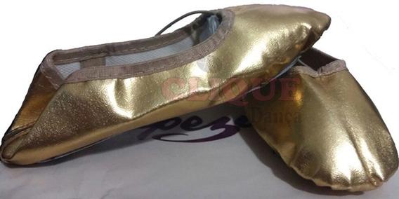 Sapatilha Dourada Ballet Capezio