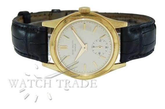 Relógio Patek Philippe Calatrava Ouro/couro Ref.: 2435