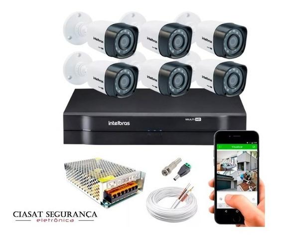 Kit 6 Câmeras Segurança Intelbras Hd 720p Dvr 1108 Mult Hd