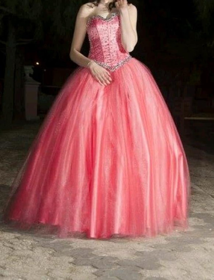 Vestido De 15 Años. Usado Una Sola Vez. Diseño Exclusivo