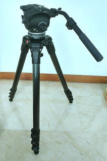 Tripode Manfrotto 536 - Cartoni Focus Hd - Fibra De Carbono
