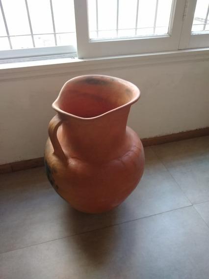 Vasija Ceramica Roja Hecha A Mano Gigante